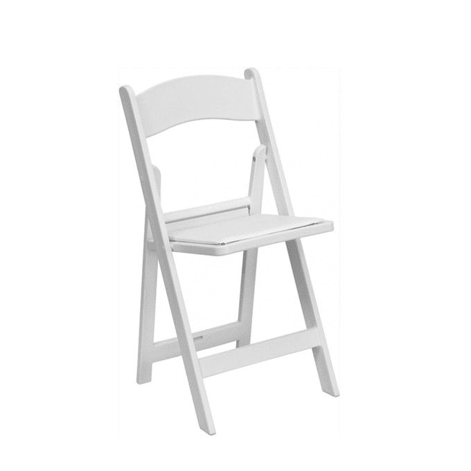 White Resin Folding Chair Luxe Event Rental
