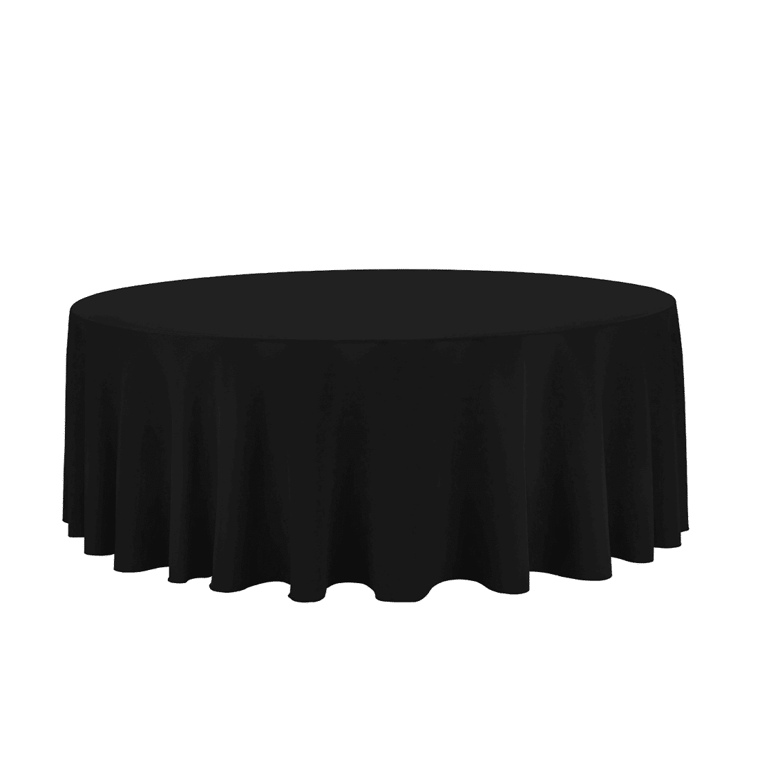 132 Quot Round Black Tablecloth Luxe Event Rental