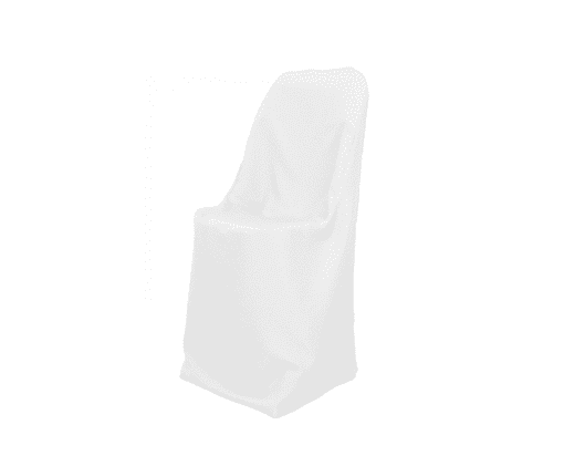 White Polyester Folding Chair Cover Luxe Event Rental