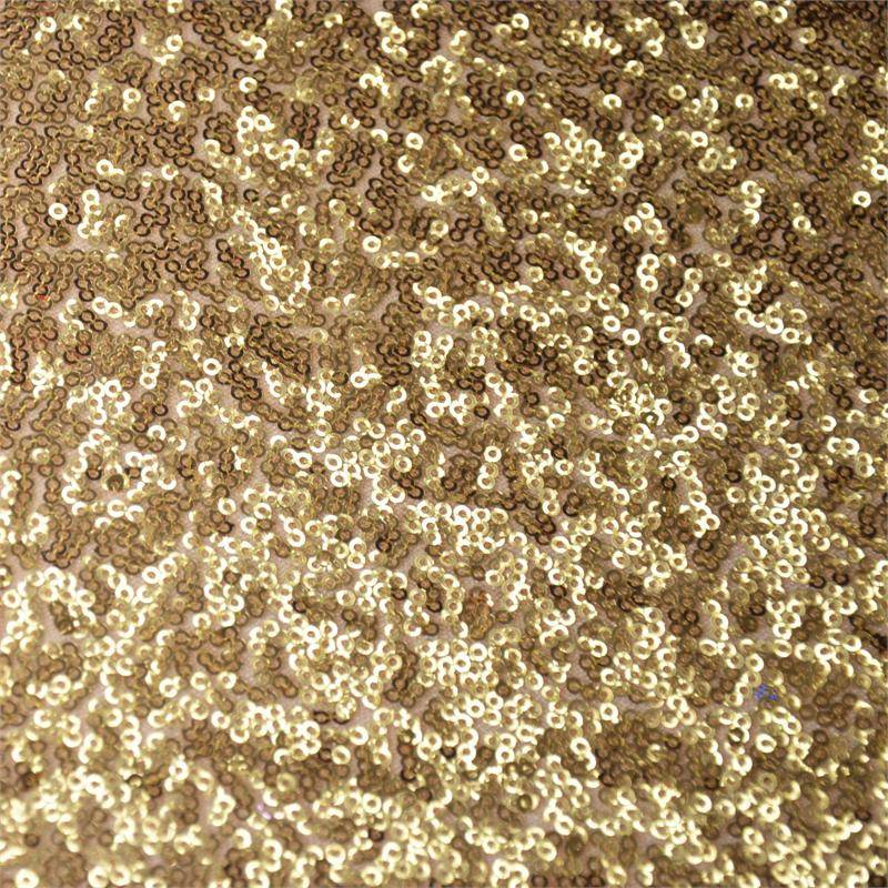 Gold Sequin 90 x 132 Tablecloth - Luxe Event Rental