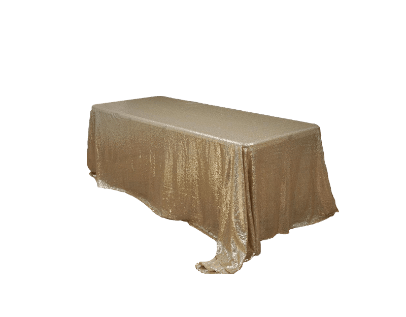 Gold Sequin 90 X 132 Tablecloth Luxe Event Rental