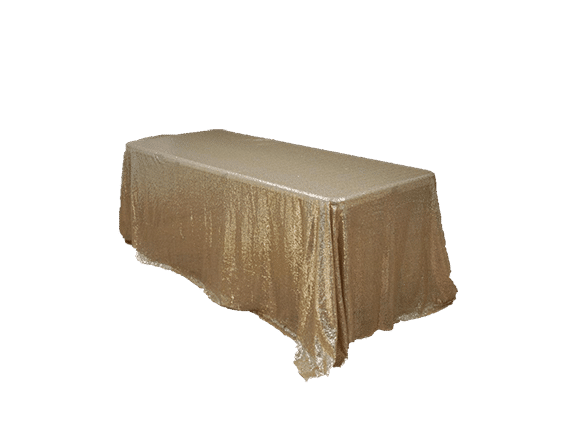 Gold Sequin 90 X 132 Tablecloth   Image Luxe Event Rental Sequin
