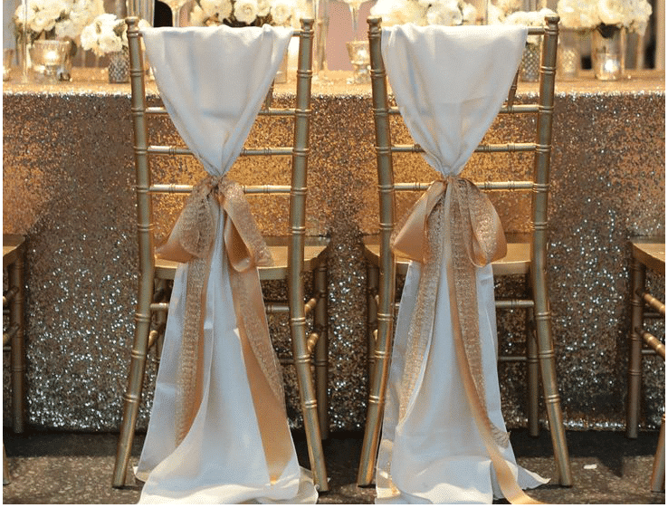 gold sequin 90 x 132 tablecloth