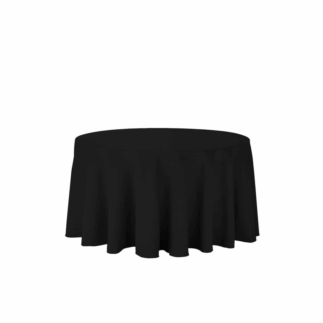 Round Black Tablecloth 108