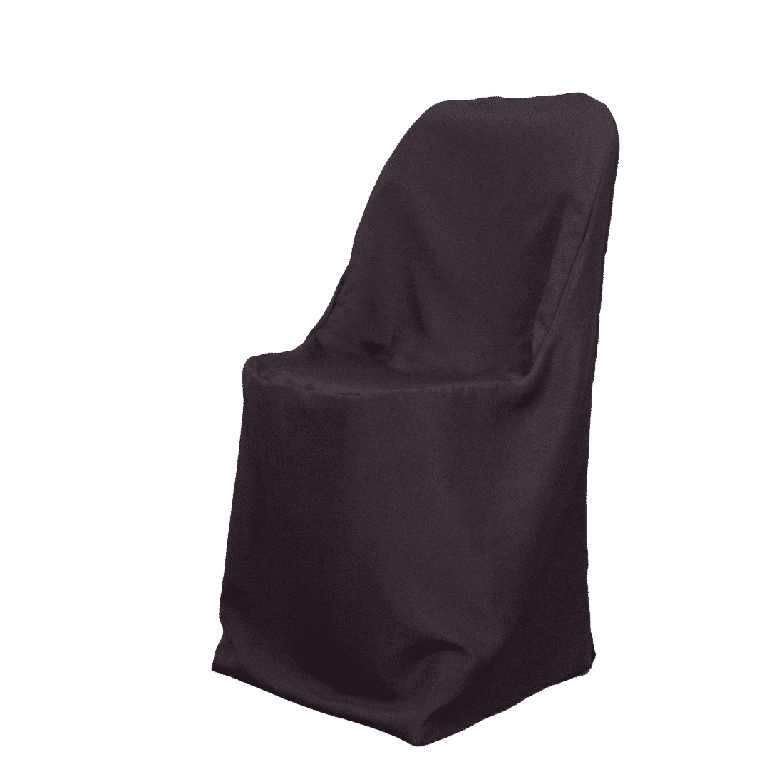Black Polyester Folding Chair Cover Luxe Event Rental