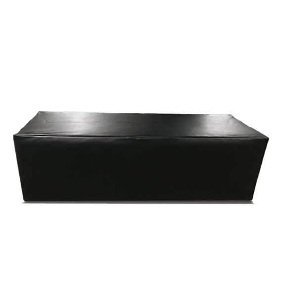 Black Luxe Lounge Line Ottoman Luxe Event Rental