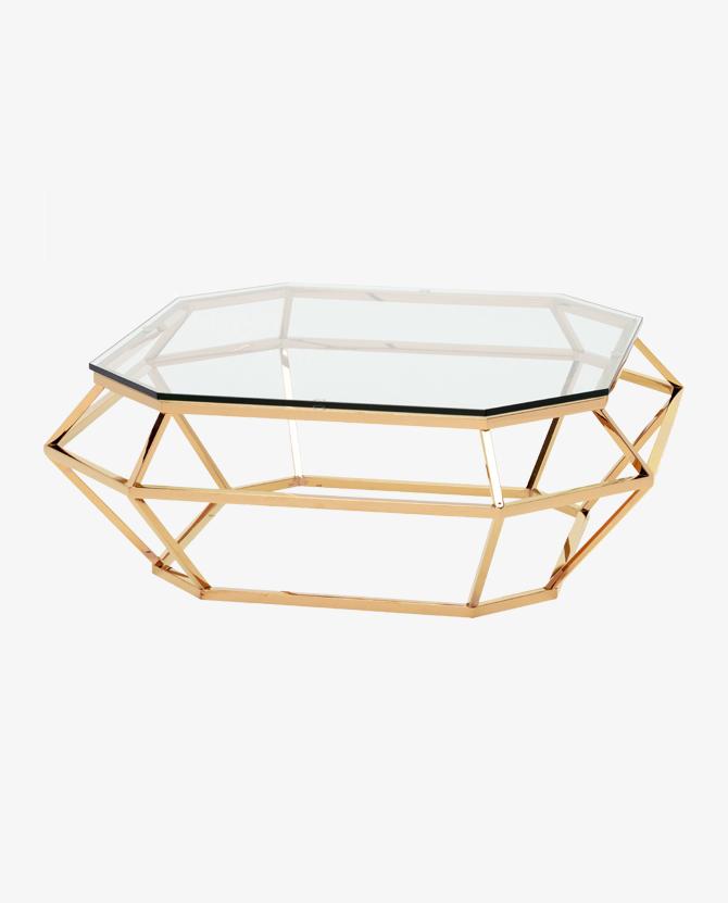Gold Diamond Coffee Table Rental