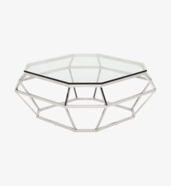silver diamond coffee table rental